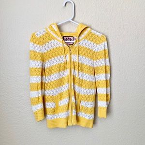 🔥30%OFF🔥Juicy Couture knitted yellow/white zipup